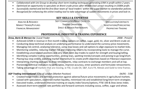 cv resume samples click on document to view in full