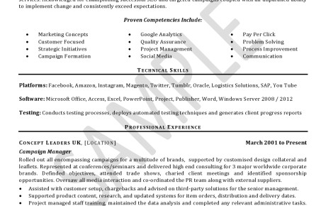 cv resume samples   click on document to view in full    cv sample